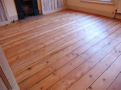 Wooden floor restoration in Milton Keynes