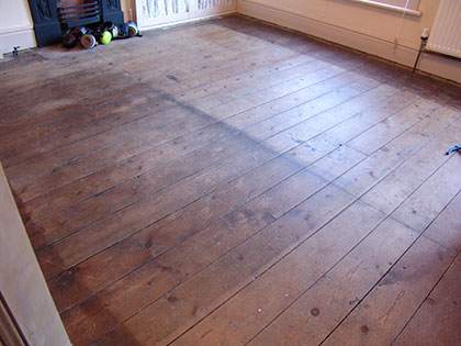 Wood floor restoration in Milton Keynes